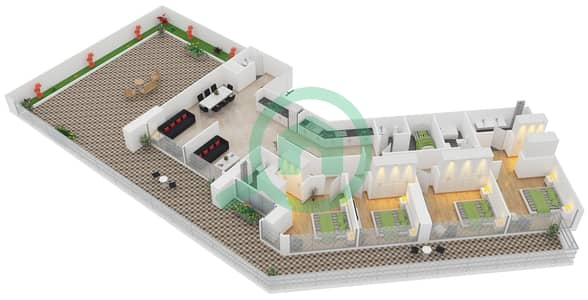 زايا هاميني - 4 غرف شقق اكتب A1 مخطط الطابق