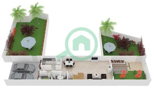 المخططات الطابقية لتصميم النموذج 5 فیلا 3 غرف نوم - ملبيري بارك