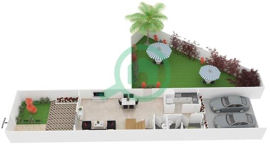 المخططات الطابقية لتصميم النموذج 4 فیلا 3 غرف نوم - ملبيري بارك
