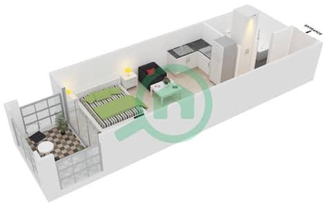 المخططات الطابقية لتصميم النموذج C1 شقة  - ميدان هانوفر