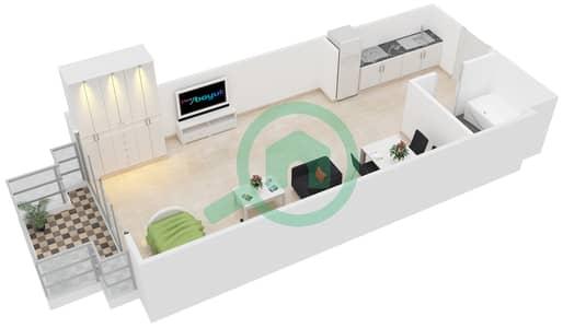 المخططات الطابقية لتصميم النموذج 2 شقة  - حدائق الإمارات 2