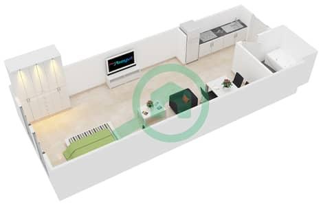 المخططات الطابقية لتصميم النموذج 1 شقة  - حدائق الإمارات 2