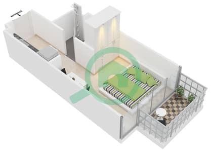 المخططات الطابقية لتصميم النموذج B شقة  - ابراج بلووم