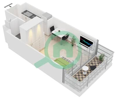 المخططات الطابقية لتصميم النموذج A شقة  - ابراج بلووم