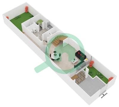 المخططات الطابقية لتصميم النموذج 3 تاون هاوس 4 غرف نوم - سيزونز كوميونيتي