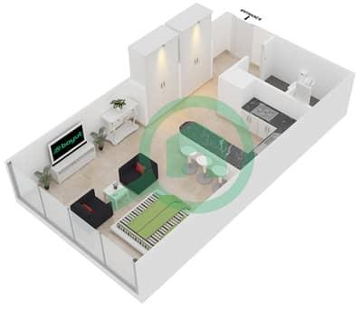 المخططات الطابقية لتصميم النموذج E شقة  - مساكن ريف