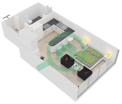المخططات الطابقية لتصميم النموذج C شقة  - مساكن ريف