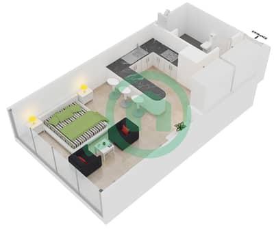 المخططات الطابقية لتصميم النموذج B شقة  - مساكن ريف