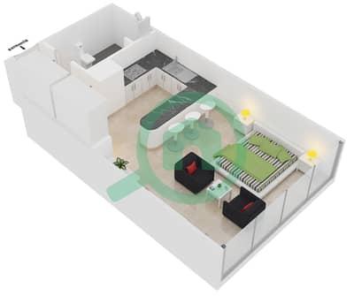 المخططات الطابقية لتصميم النموذج A شقة  - مساكن ريف