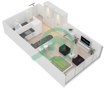 المخططات الطابقية لتصميم النموذج D شقة  - مساكن ريف