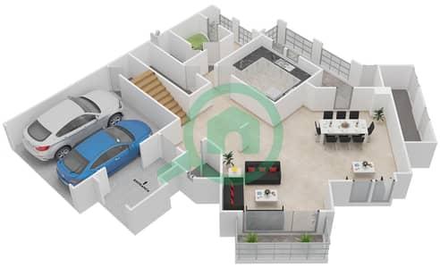 المخططات الطابقية لتصميم النموذج F فیلا 4 غرف نوم - شروق مردف