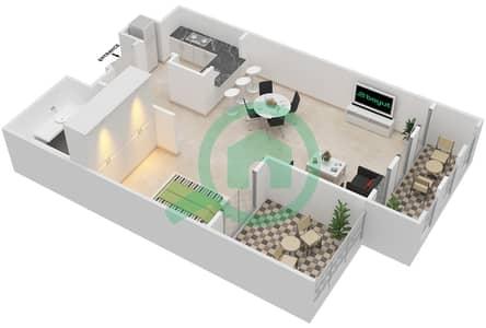 المخططات الطابقية لتصميم النموذج A شقة  - شروق مردف