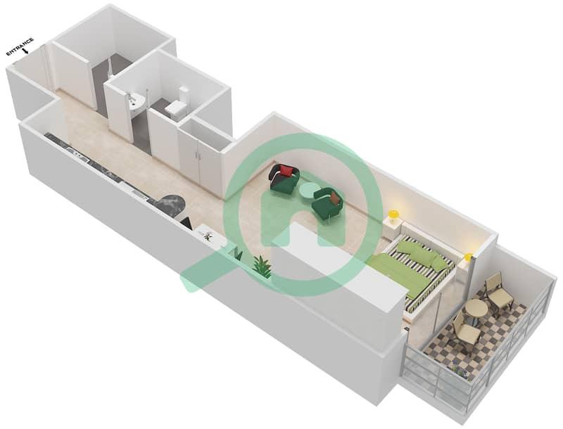 المخططات الطابقية لتصميم التصميم 12 شقة  - شقق الأرينا Floor 1-10 image3D