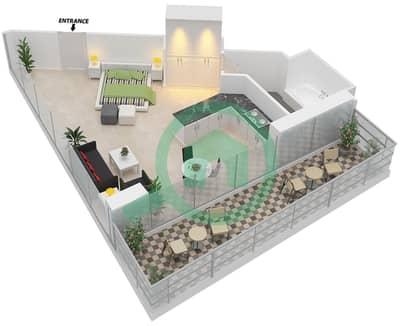 المخططات الطابقية لتصميم النموذج 14 شقة  - ذا ميتركس