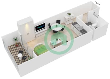 Hamza Tower - Studio Apartment Type S Floor plan