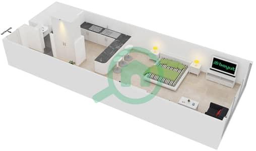 Frankfurt Sports Tower - Studio Apartment Type/unit K /11 Floor plan