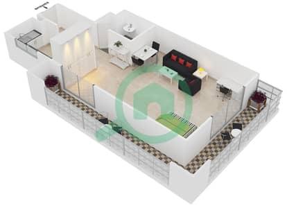 Frankfurt Sports Tower - Studio Apartment Type/unit G /2 Floor plan