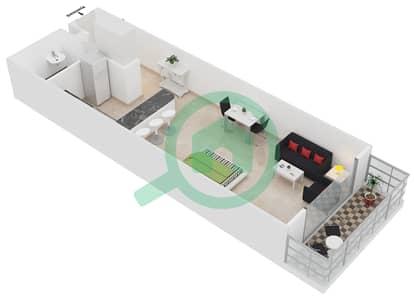 Frankfurt Sports Tower - Studio Apartment Type/unit E /4 Floor plan