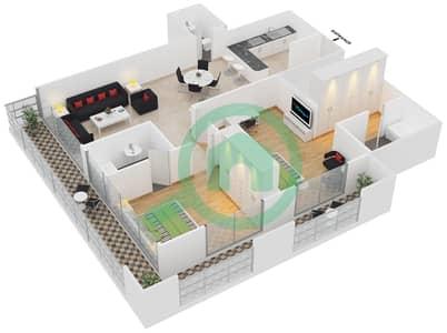 Frankfurt Sports Tower - 2 Bedroom Apartment Type/unit I/16 Floor plan