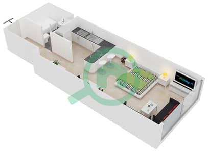 Frankfurt Sports Tower - 1 Bedroom Apartment Type/unit C /8 Floor plan