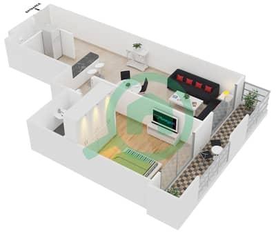 Frankfurt Sports Tower - 1 Bedroom Apartment Type/unit B /5 Floor plan