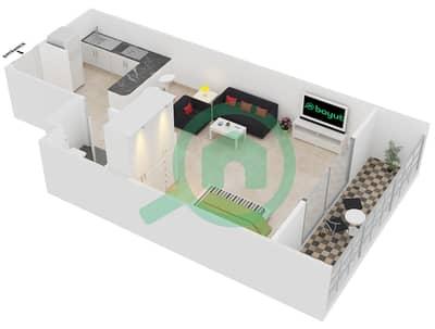 Frankfurt Sports Tower - Studio Apartment Type/unit B /9 Floor plan