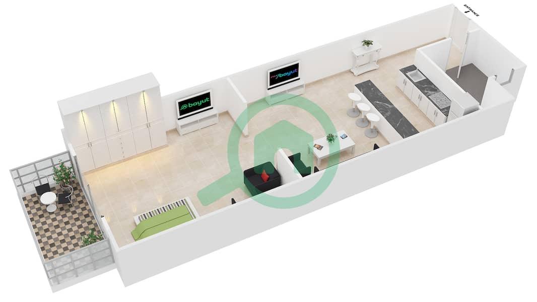 Floor Plans For Type 10 Studio Apartments In Elite Sports Residence 1 Bayut Dubai