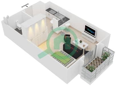 Cricket Tower - Studio Apartment Type D Floor plan