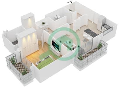Cricket Tower - 1 Bedroom Apartment Type A Floor plan