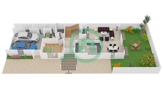 المخططات الطابقية لتصميم النموذج 2 فیلا 4 غرف نوم - فلل برايم