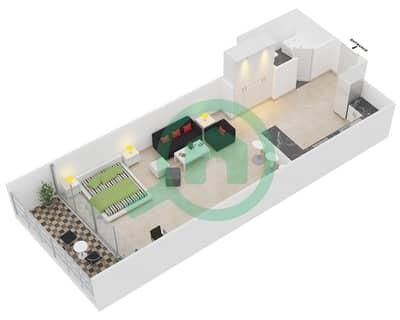 المخططات الطابقية لتصميم النموذج 9 شقة  - برج يوني استايت الرياضي