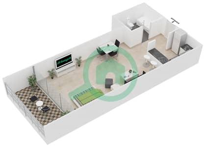 المخططات الطابقية لتصميم النموذج 7 شقة  - برج يوني استايت الرياضي