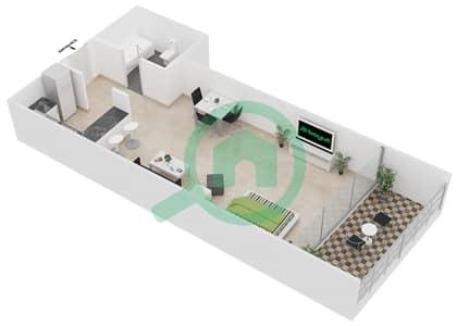 المخططات الطابقية لتصميم النموذج 4 شقة  - برج يوني استايت الرياضي