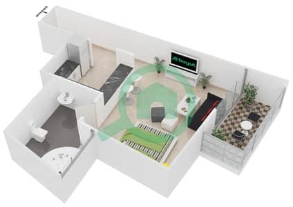 المخططات الطابقية لتصميم النموذج 3 شقة  - برج يوني استايت الرياضي