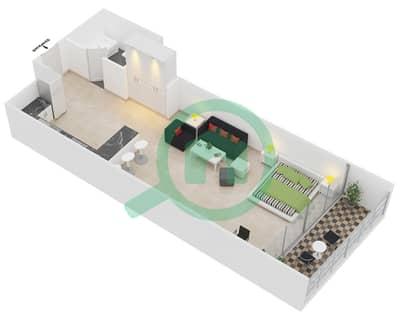 المخططات الطابقية لتصميم النموذج 1 شقة  - برج يوني استايت الرياضي