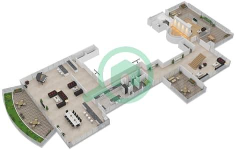 The Jewels - 4 Bedroom Penthouse Type PRESIDENTIAL Floor plan