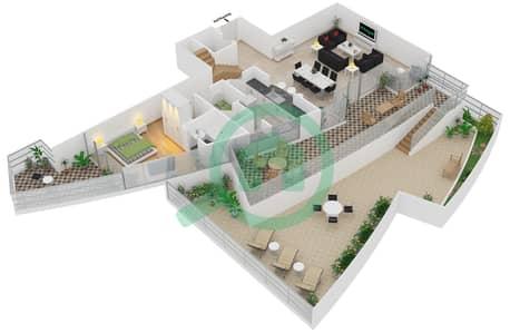 Bayside Residence - 4 Beds Apartments type 1 Duplex Floor plan