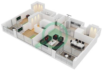23 Marina - 2 Bedroom Apartment Unit 5 FLOOR 8-31 Floor plan
