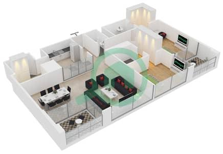 23 Marina - 2 Bedroom Apartment Unit 2 FLOOR 8-31 Floor plan