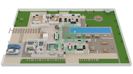 المخططات الطابقية لتصميم النموذج B4 CLASSIC فیلا 6 غرف نوم - باركوايز دبي هيلز
