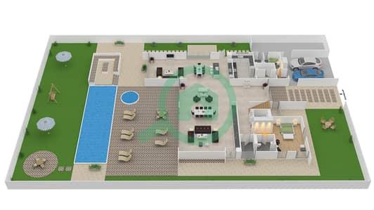 المخططات الطابقية لتصميم النموذج B2 فیلا 6 غرف نوم - باركوايز دبي هيلز