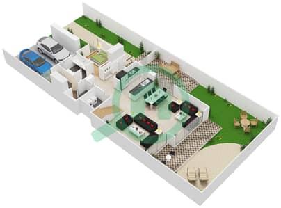 المخططات الطابقية لتصميم النموذج 5 تاون هاوس 4 غرف نوم - كلوب فيلاز