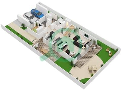 المخططات الطابقية لتصميم النموذج 4 تاون هاوس 4 غرف نوم - كلوب فيلاز