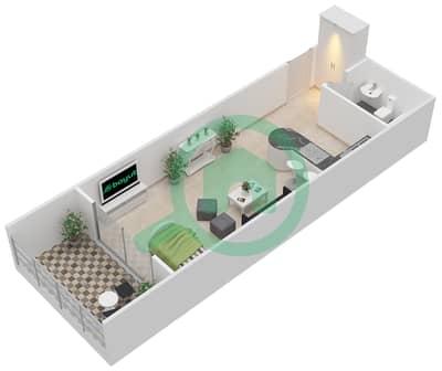 المخططات الطابقية لتصميم النموذج D شقة  - برج كليوبترا