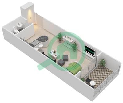 المخططات الطابقية لتصميم النموذج B شقة  - برج كليوبترا