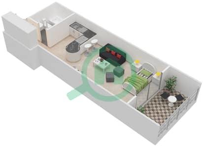 المخططات الطابقية لتصميم النموذج A شقة  - برج كليوبترا