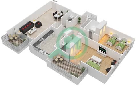 Azizi Daisy - 2 Bedroom Apartment Type/unit 2B/2 Floor plan