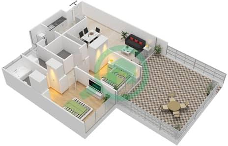 Avenue Residence - 2 Bedroom Apartment Type B1-P Floor plan