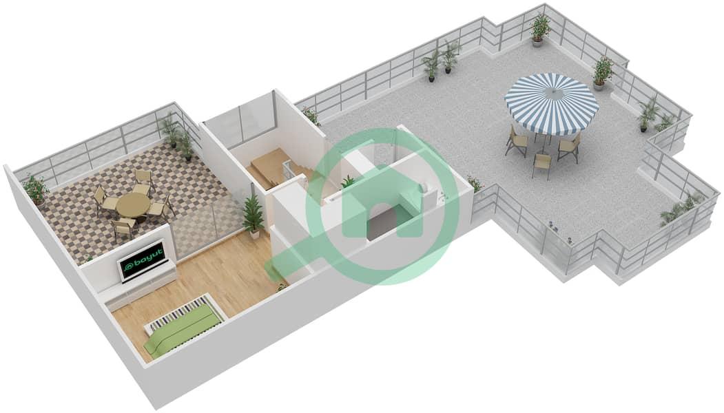 المخططات الطابقية لتصميم النموذج D3-T شقة 4 غرف نوم - افينيو ريزدنس Upper Floor image3D