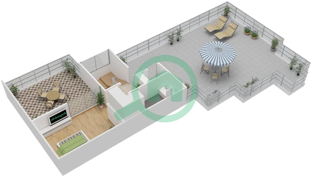 المخططات الطابقية لتصميم النموذج E1-T شقة 5 غرف نوم - افينيو ريزدنس Upper Floor image3D